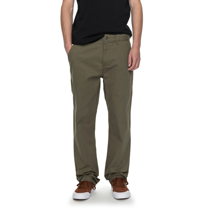 """0 Worker Straight 32"""" - Chinos Green EDYNP03107 DC Shoes"""