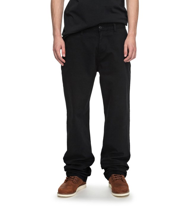 0 Men's Worker Relaxed Chinos Black EDYNP03119 DC Shoes