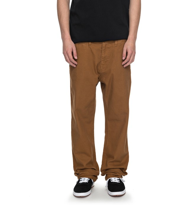 0 Uncompromised - Canvas Trousers Orange EDYNP03120 DC Shoes