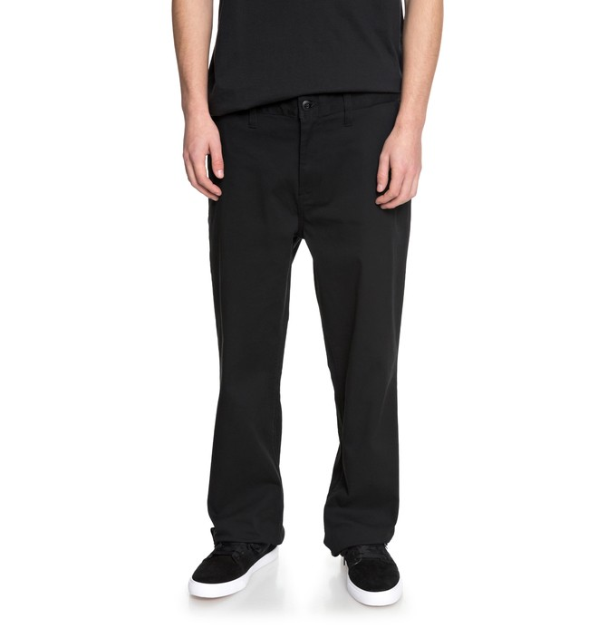 0 Men's Worker Relaxed Chinos Black EDYNP03130 DC Shoes