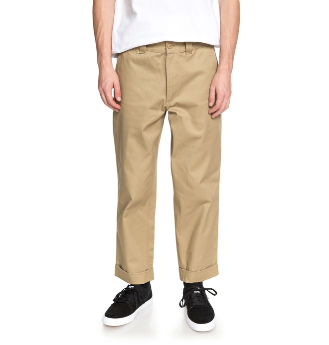 0 Men's Rolled On Baggy Chinos Brown EDYNP03134 DC Shoes