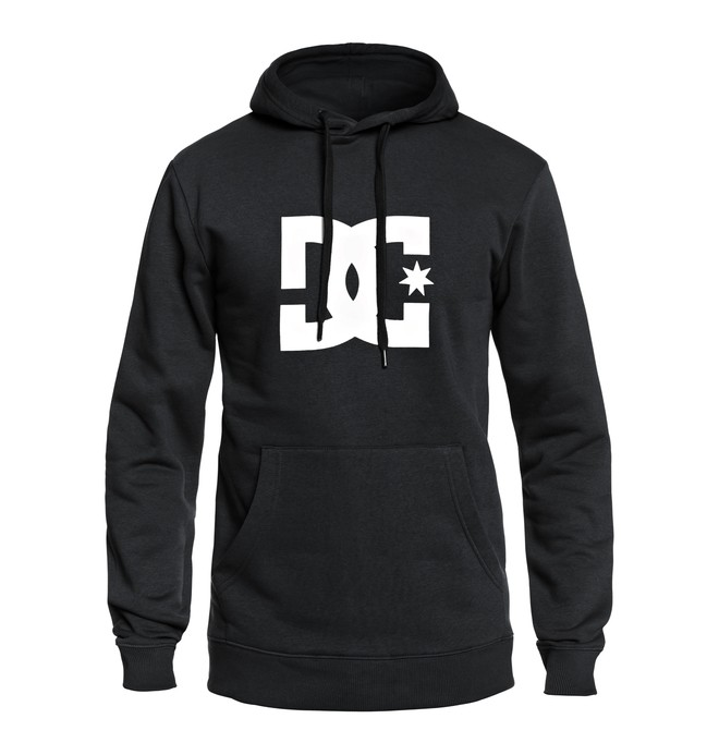 0 Men's Star Pullover hoodie Black EDYSF03107 DC Shoes