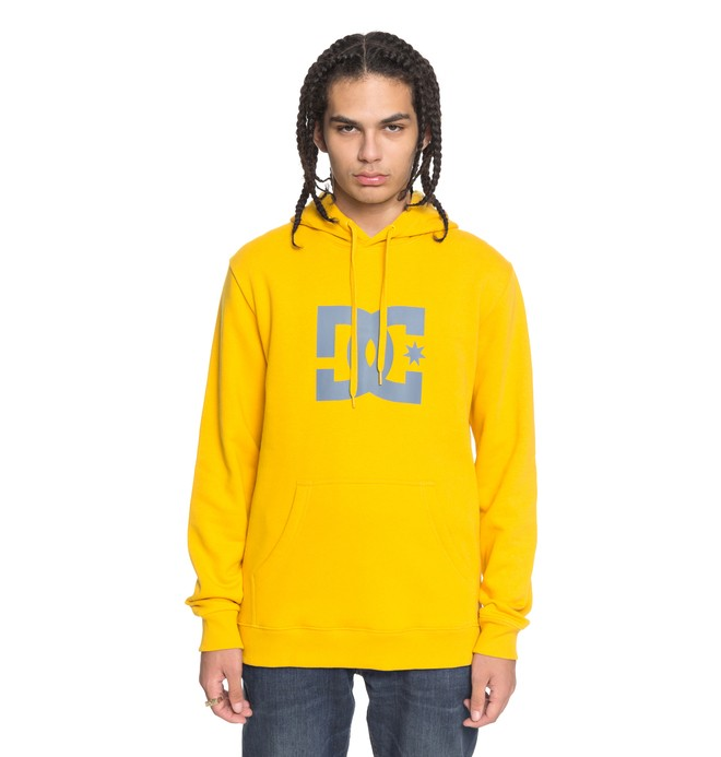 0 Men's Star Hoodie Yellow EDYSF03107 DC Shoes