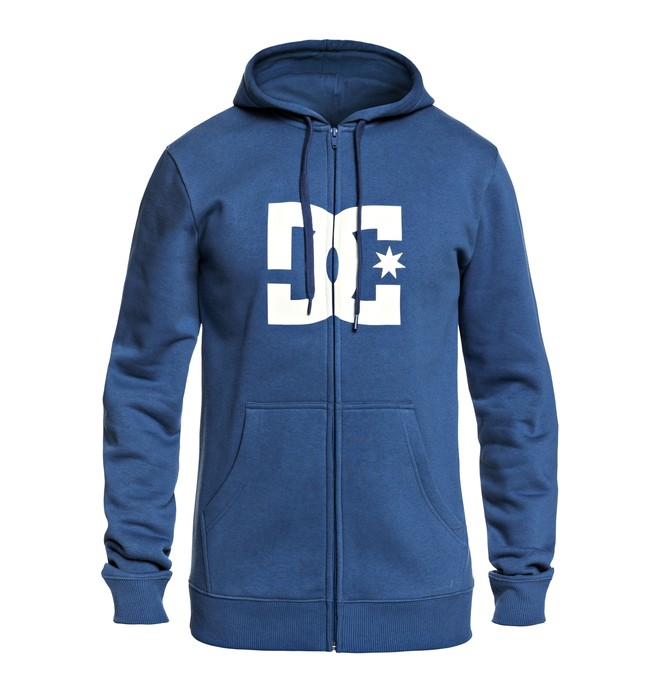 0 Men's Star Zip Up Hoodie Blue EDYSF03108 DC Shoes