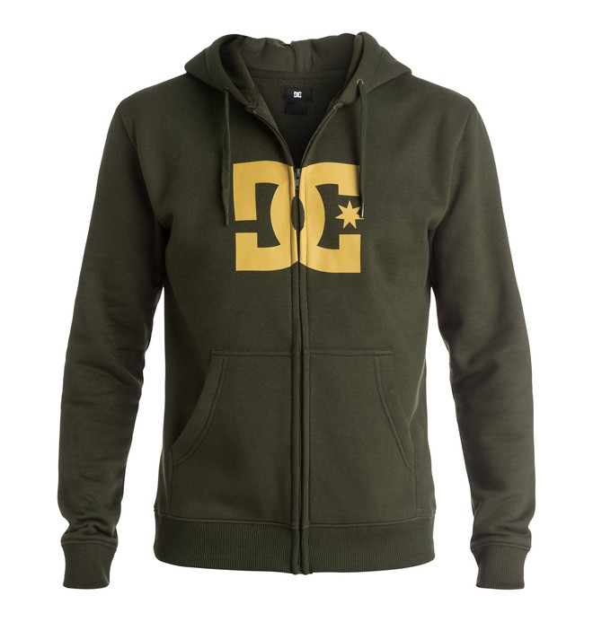 0 Star - Full-zip hoodie Brown EDYSF03108 DC Shoes