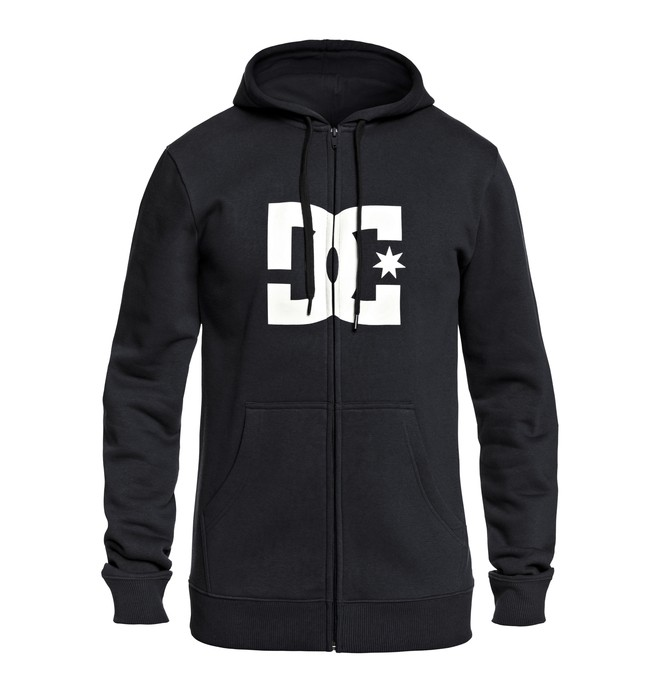 0 Men's Star Zip Up Hoodie Black EDYSF03108 DC Shoes