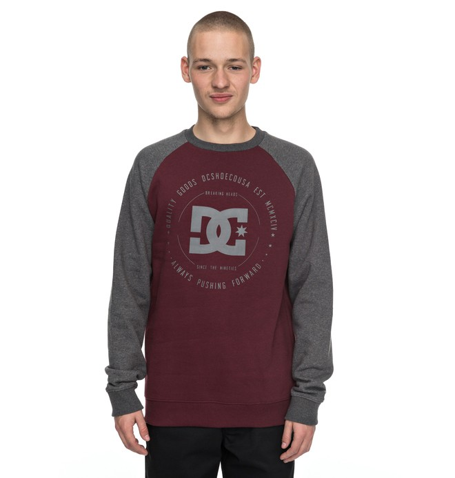 0 Rebuilt Raglan - Sweat Rouge EDYSF03122 DC Shoes