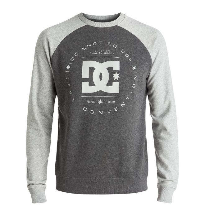 0 Rebuilt Raglan - Sweatshirt Grey EDYSF03122 DC Shoes