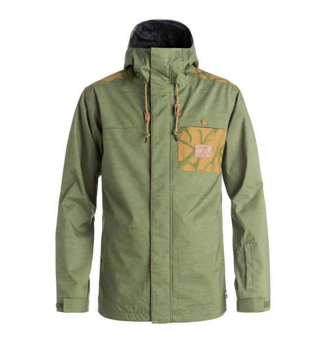 0 Men's Delinquent Snow Jacket Green EDYTJ03018 DC Shoes