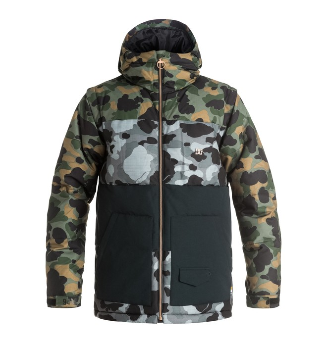 0 Downhill - Giacca Puffer da neve Green EDYTJ03031 DC Shoes