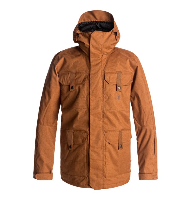 0 Men's Servo Snow Jacket Brown EDYTJ03043 DC Shoes
