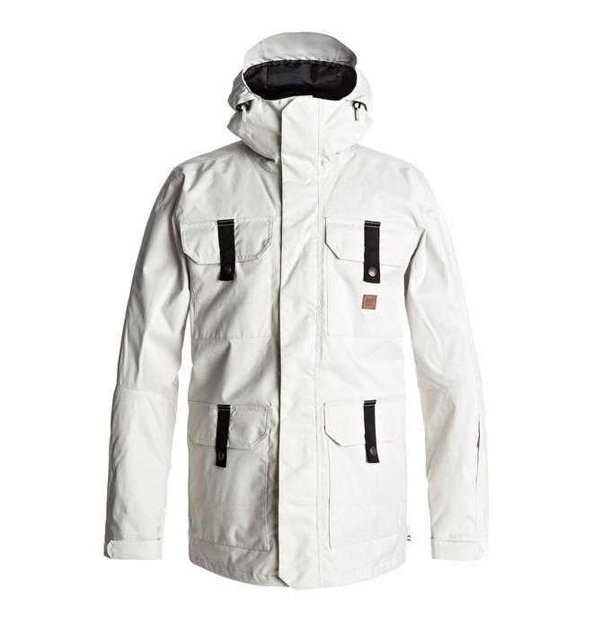 0 Men's Servo Snow Jacket White EDYTJ03043 DC Shoes
