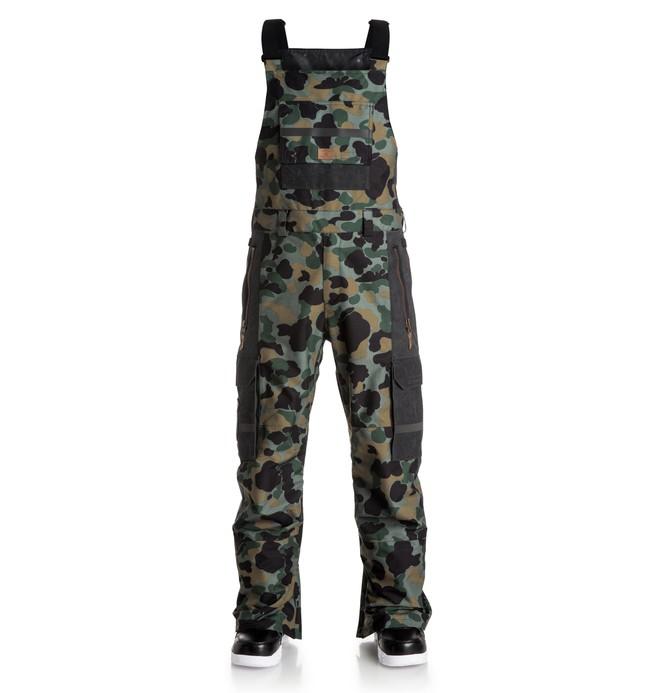 0 Platoon - Bib Snow Pants Green EDYTP03010 DC Shoes