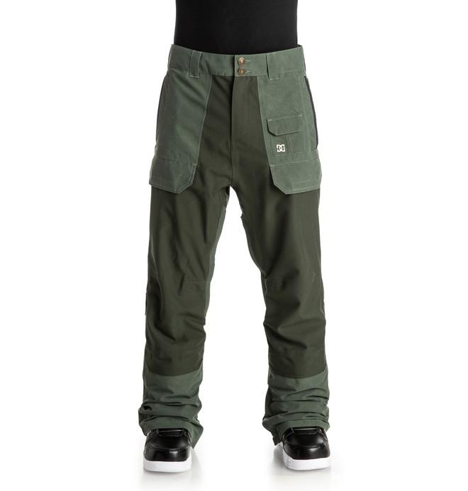 0 Men's Asylum Snow Pants Brown EDYTP03011 DC Shoes