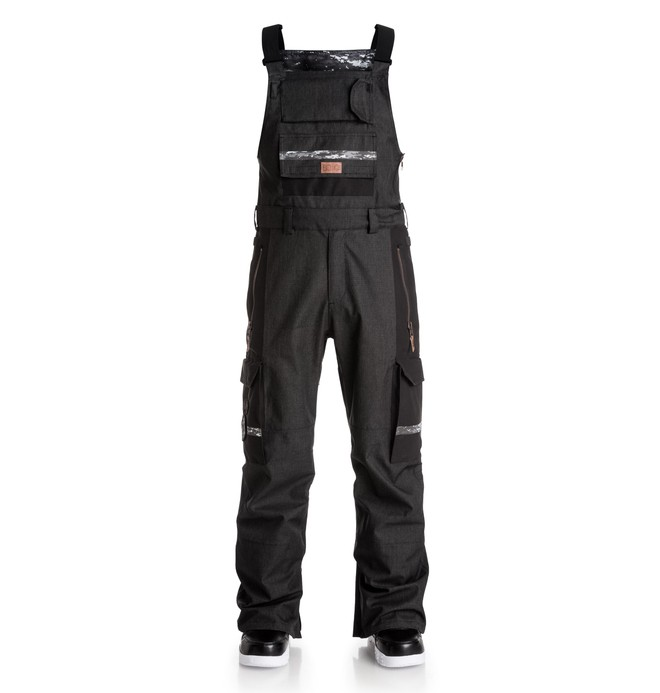0 Men's Platoon SPT Bib Snow Pants Black EDYTP03014 DC Shoes