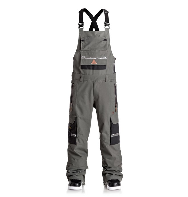 0 Men's Platoon SPT Bib Snow Pants Black EDYTP03020 DC Shoes