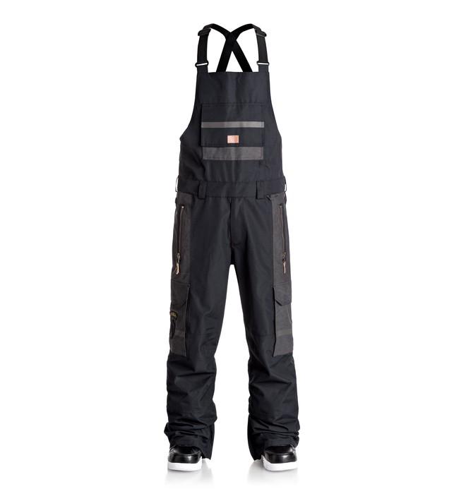 0 Men's Platoon Bib Snow Pants Black EDYTP03021 DC Shoes
