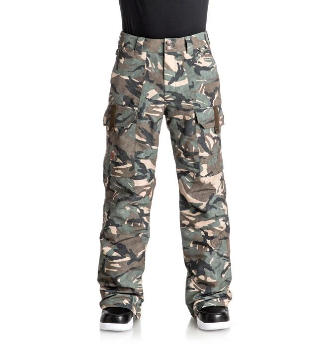 0 Сноубордические штаны Code Коричневый EDYTP03026 DC Shoes