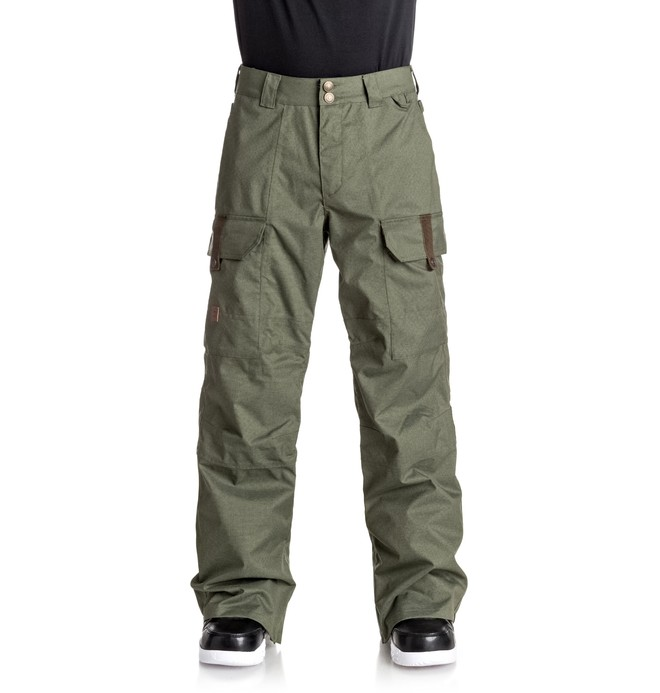 0 Men's Code Snow Pants Green EDYTP03026 DC Shoes