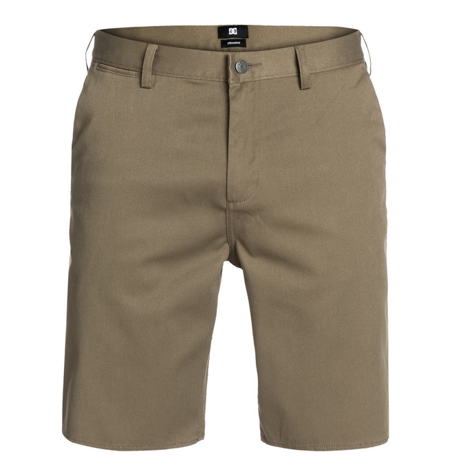 0 DC Worker Straight Shorts Brown EDYWS03000 DC Shoes