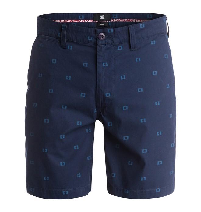 0 Men's Worker Print Slim 18 Shorts  EDYWS03014 DC Shoes