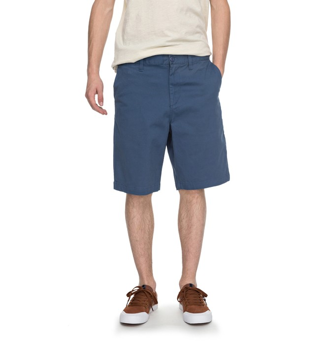 """0 Men's Worker Straight 20.5"""" Shorts Blue EDYWS03064 DC Shoes"""