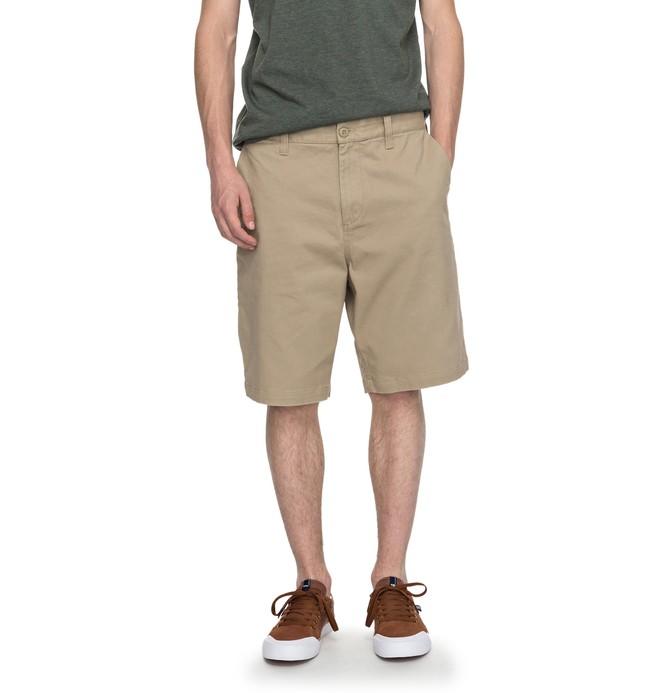 "0 Men's Worker Straight 20.5"" Shorts Beige EDYWS03064 DC Shoes"
