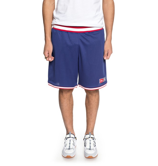 0 Men's Eglinton Basketball Shorts Blue EDYWS03094 DC Shoes