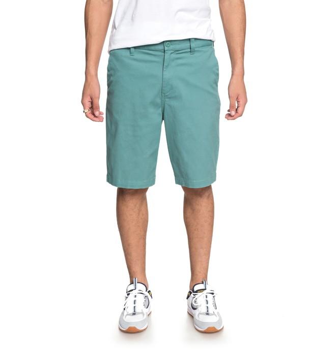 """0 Men's Worker 20.5"""" Chino Shorts Green EDYWS03101 DC Shoes"""