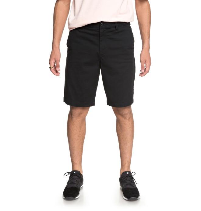 "0 Men's Worker 20.5"" Chino Shorts Black EDYWS03101 DC Shoes"