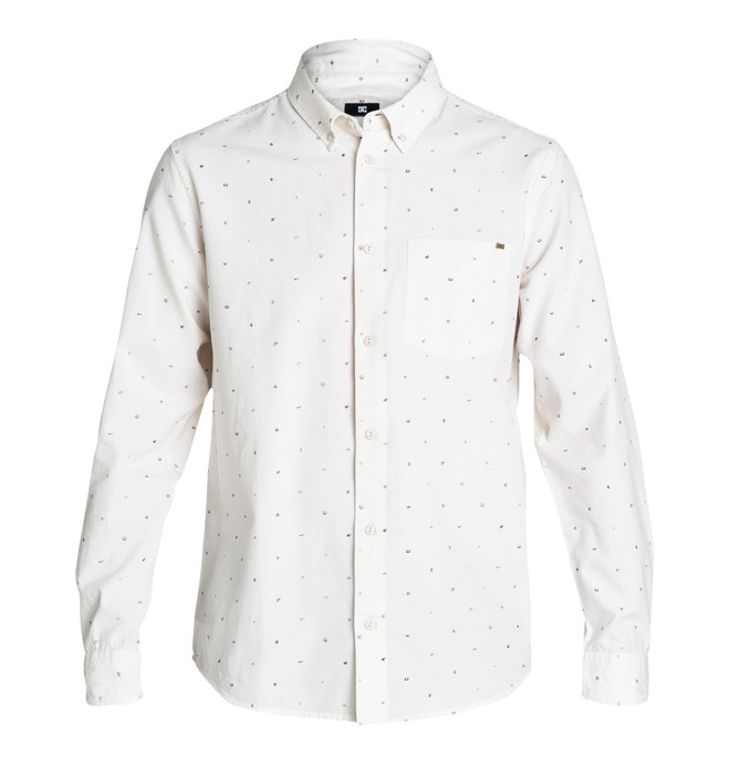0 Proper LS Shirt White EDYWT03004 DC Shoes
