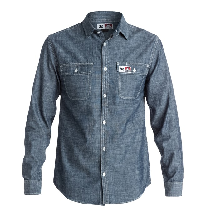 0 Men's Ben Davis Chambray Shirt  EDYWT03052 DC Shoes