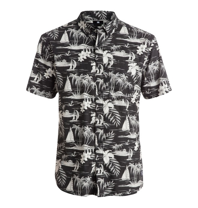 0 Vacation - Short Sleeve Shirt Black EDYWT03083 DC Shoes
