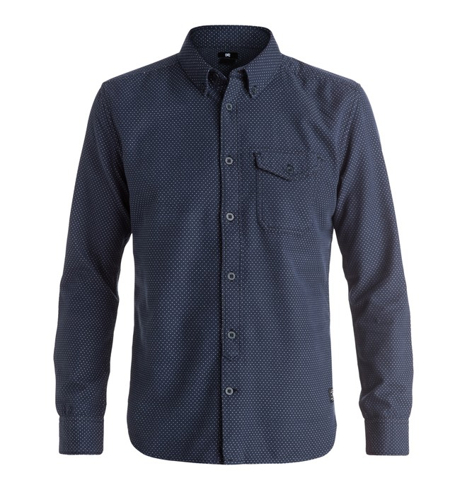 0 Allandalen - Long Sleeve Shirt Blue EDYWT03105 DC Shoes