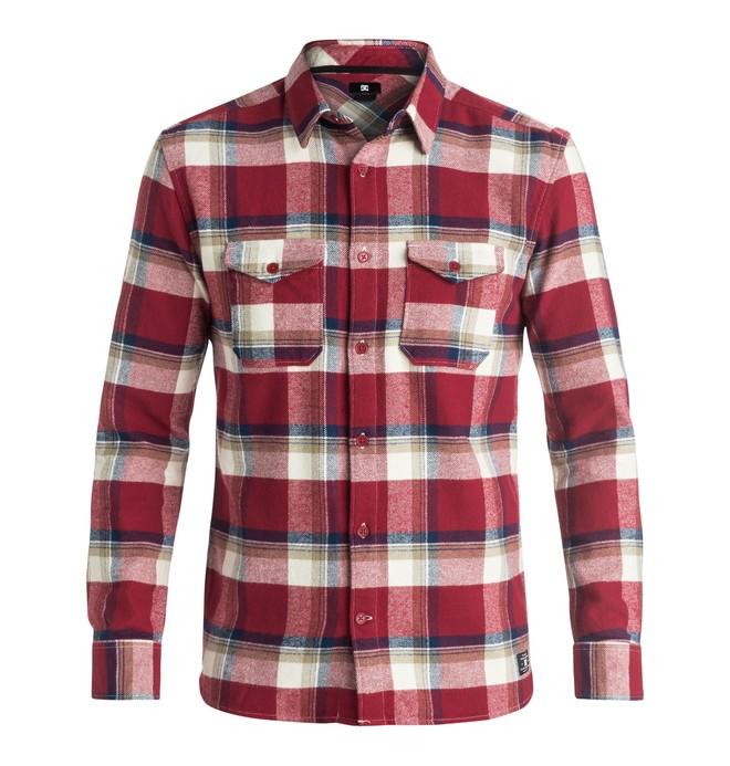 0 Marsha Flannel - Long Sleeve Shirt Red EDYWT03110 DC Shoes