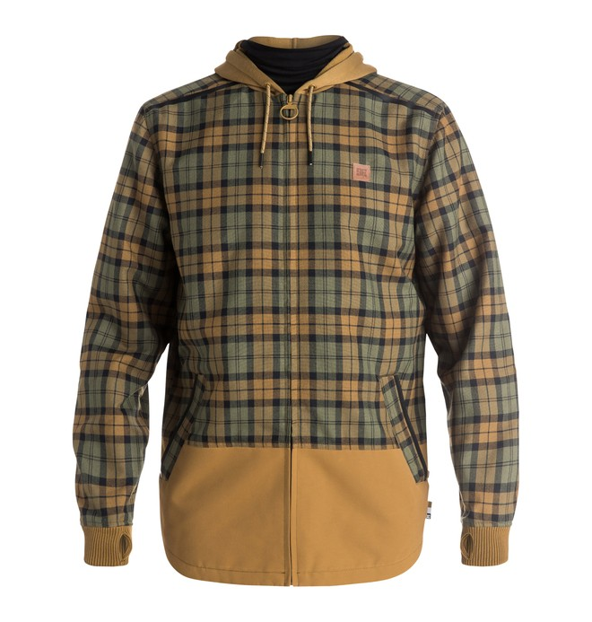 0 Backwoods Flannel - Riding Shacket Brown EDYWT03115 DC Shoes