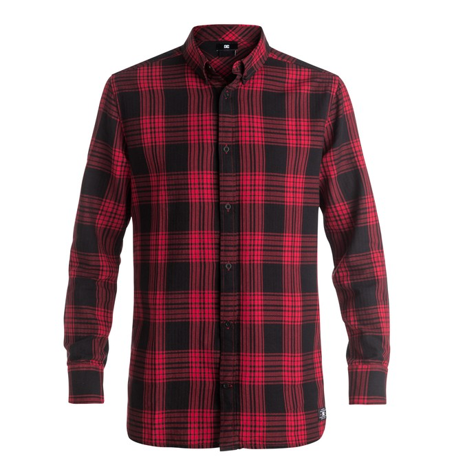 0 Yorton - Long Sleeve Shirt Red EDYWT03129 DC Shoes