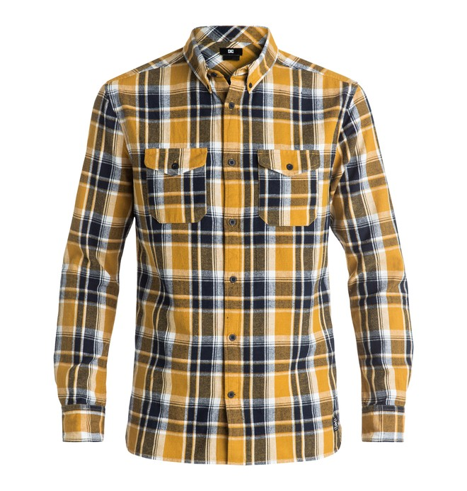 0 Reedsbirg - Long Sleeve Shirt Yellow EDYWT03132 DC Shoes