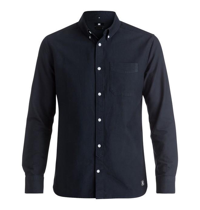 0 Oxford - Long Sleeve Shirt Blue EDYWT03143 DC Shoes