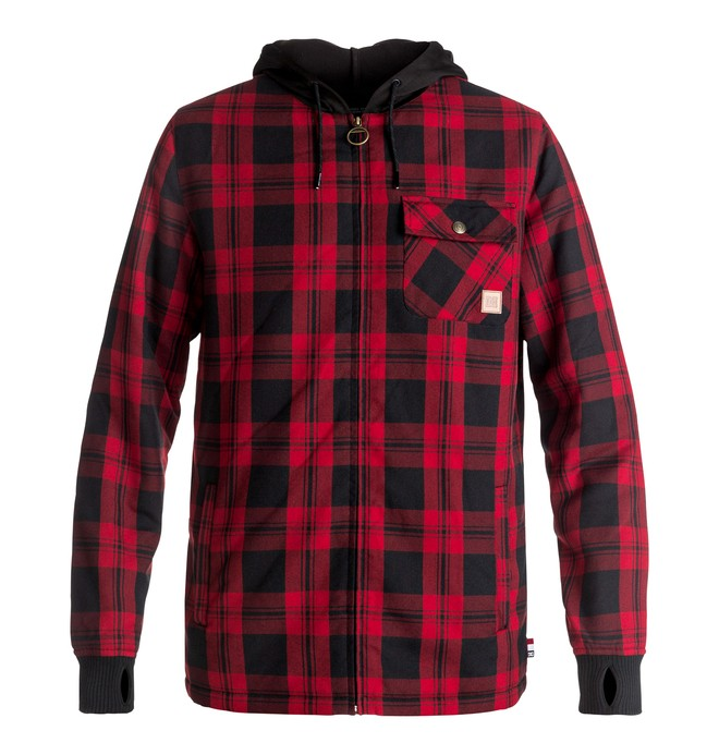 0 Men's Backwoods Technical Riding Shacket Red EDYWT03154 DC Shoes