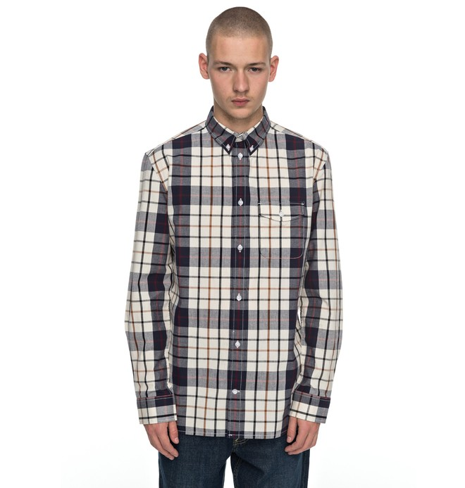 0 Men's Atura Long Sleeve Shirt Grey EDYWT03159 DC Shoes