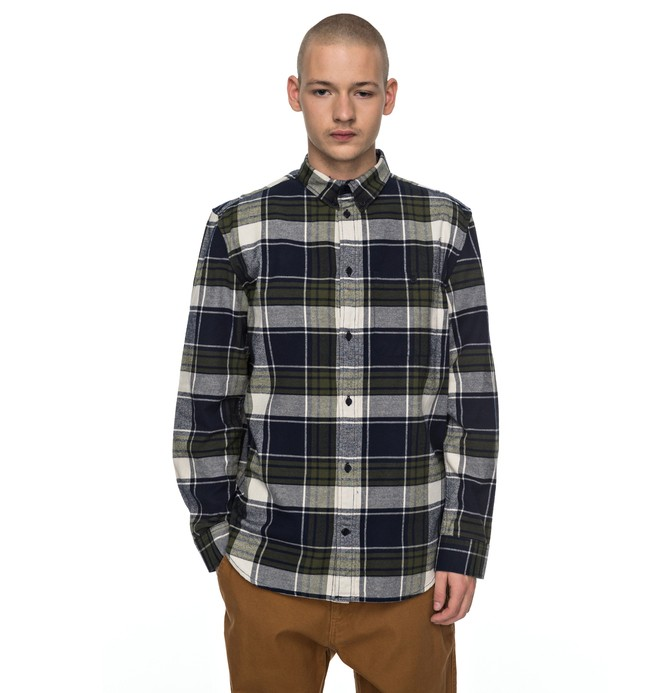 0 South Ferry - Long Sleeve Shirt Blue EDYWT03160 DC Shoes