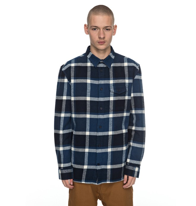0 Marsha Flannel - Long Sleeve Shirt Blue EDYWT03161 DC Shoes