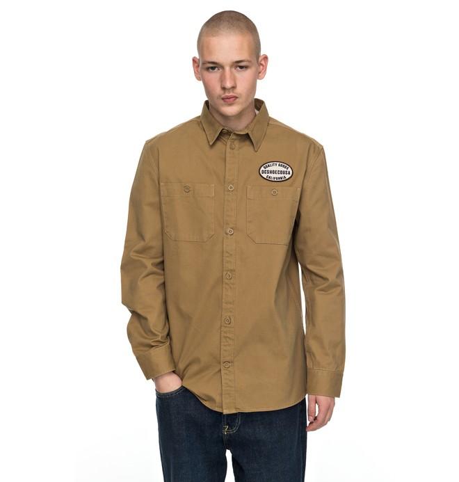 0 Men's Walbottle Long Sleeve Shirt Brown EDYWT03172 DC Shoes