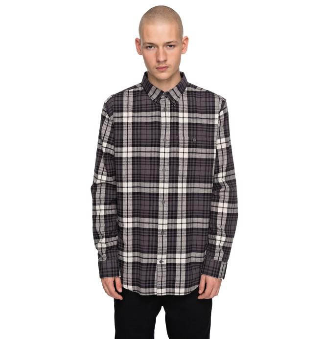 0 Men's South Ferry Long Sleeve Shirt Black EDYWT03180 DC Shoes