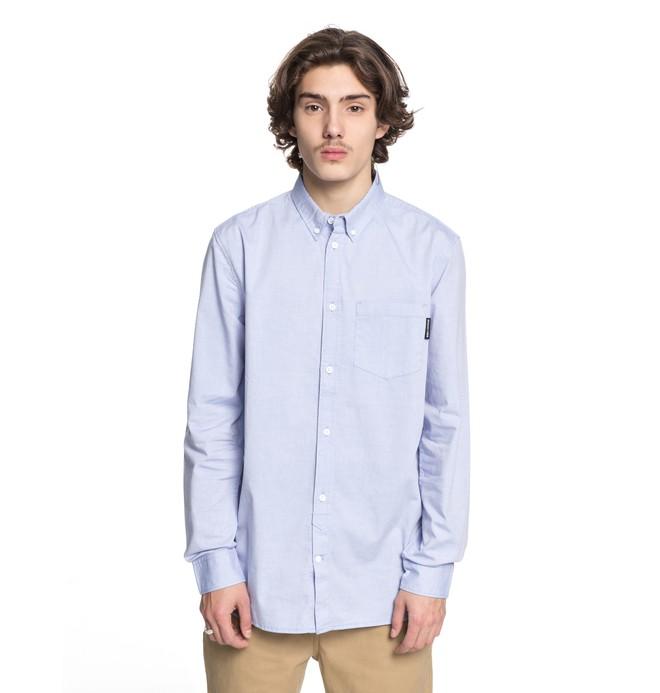 0 Men's Classic Oxford Light Long Sleeve Shirt Blue EDYWT03183 DC Shoes