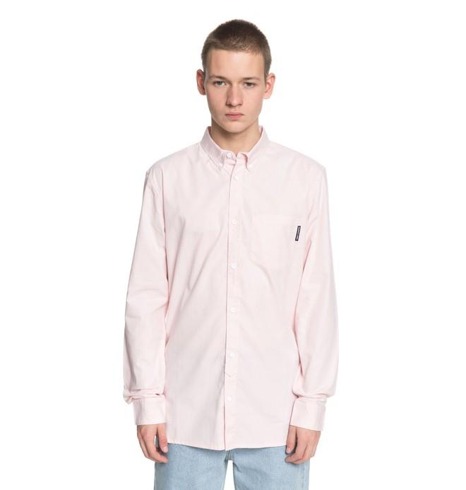 0 Men's Classic Oxford Light Long Sleeve Shirt Pink EDYWT03183 DC Shoes