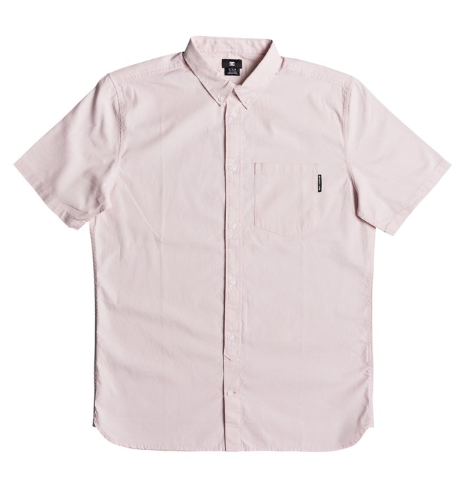 0 Men's Classic Oxford Light Short Sleeve Shirt Pink EDYWT03184 DC Shoes