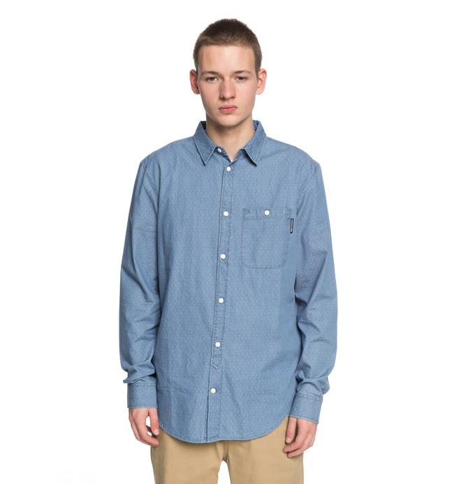 0 Men's Swalendalen 2 Long Sleeve Shirt Blue EDYWT03190 DC Shoes
