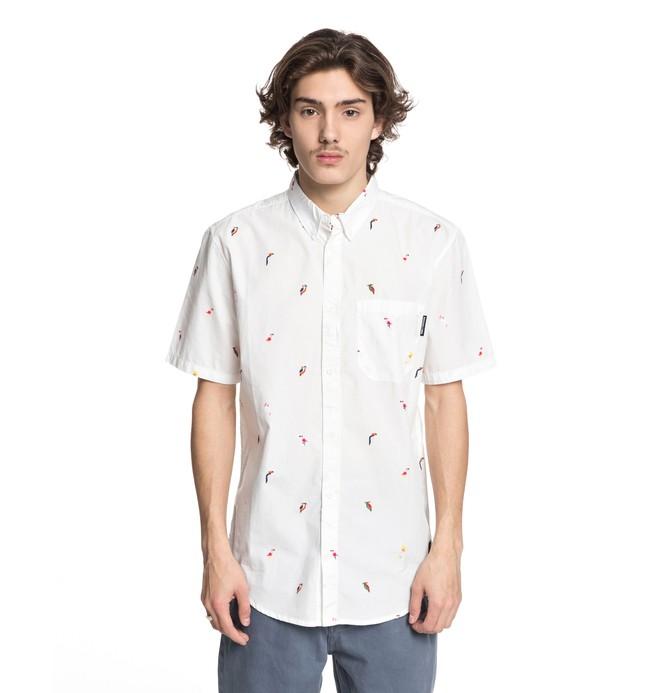 0 Men's Hepscott Short Sleeve Shirt White EDYWT03191 DC Shoes
